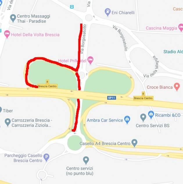 BRESCIA:  chiusura due bretelle autostradali brescia centro
