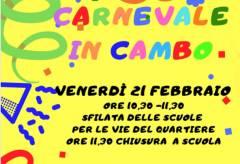 Iniziative per il Carnevale a Borgo Loreto e al Cambonino