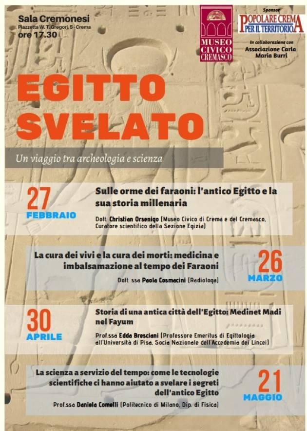 Crema Conferenze Egitto Svelato al Museo Civico