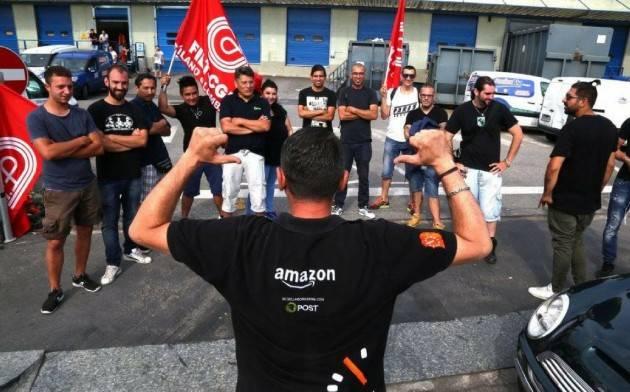 Cgil Lombardia Scioperano (a sorpresa) i lavoratori della filiera Amazon