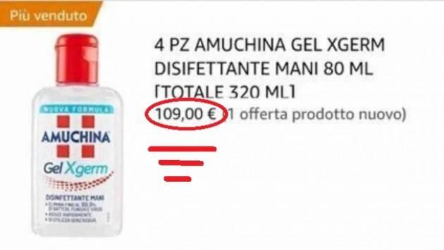 Sciacalli del coronavirus: +600% sui prezzi di mascherine e disinfettanti