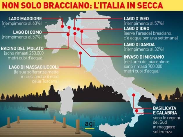 Crisi idrica in Italia, Anbi: preoccupazione crescente e anomalie meteo