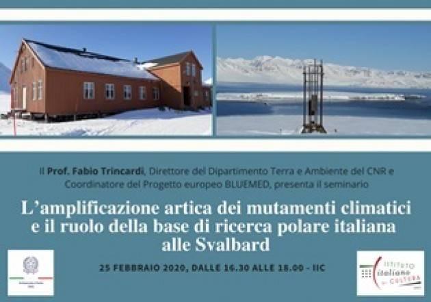 LE ATTIVITÀ DELLA BASE ''DIRIGIBILE ITALIA'' ALLE SVALBARD IN UNA CONFERENZA DI FABIO TRINCARDI (CNR) A OSLO