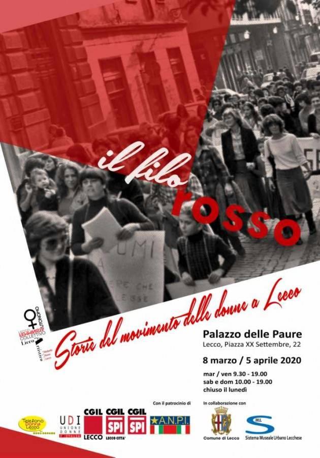 In programma dal 7 marzo al Palazzo delle Paure la mostra ''Il Filo Rosso''