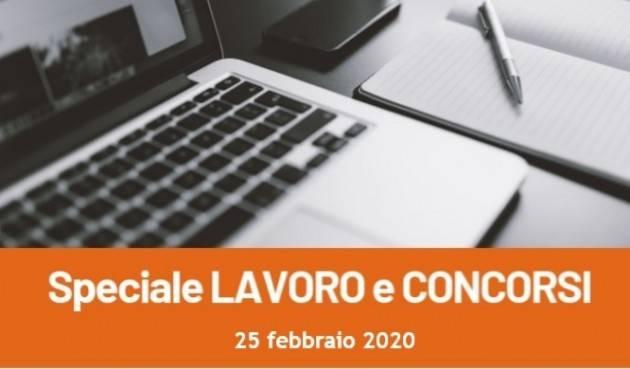 Informa Giovani Cremona SPECIALE LAVORO E CONCORSI del 25 febbraio 2020