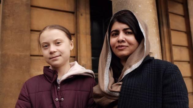 Malala Yousafzai incontra Greta Thunberg: ''È l'unica amica per la quale salterei la scuola''