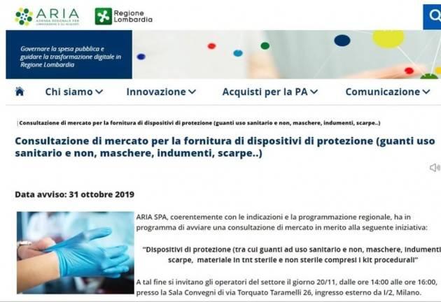 Degli Angeli (M5S Lombardia) mancanza mascherine negli ospedali. Perché questi ritardi? Fontana faccia verifiche.