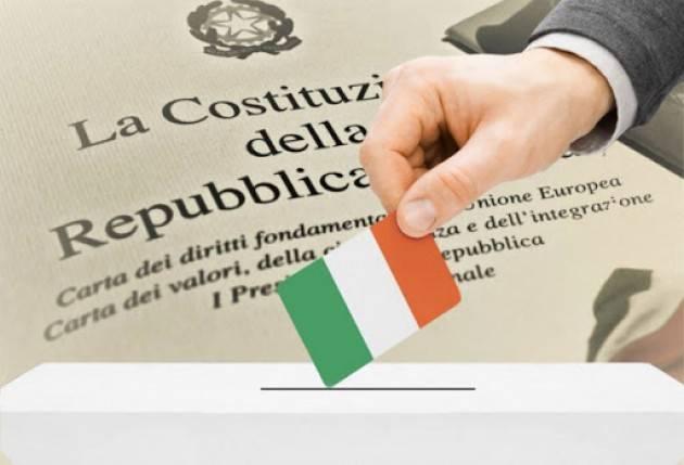 CHIESTO IL RINVIO DEL REFERENDUM COSTITUZIONALE SULLA RIDUZIONE DEI PARLAMENTARI  Sergio Ravelli