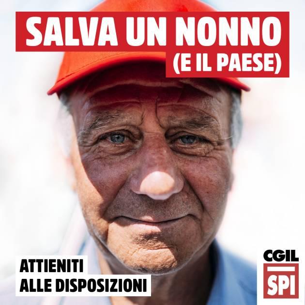 La campagna dello Spi-Cgil  'Salva un nonno, salva il Paese'