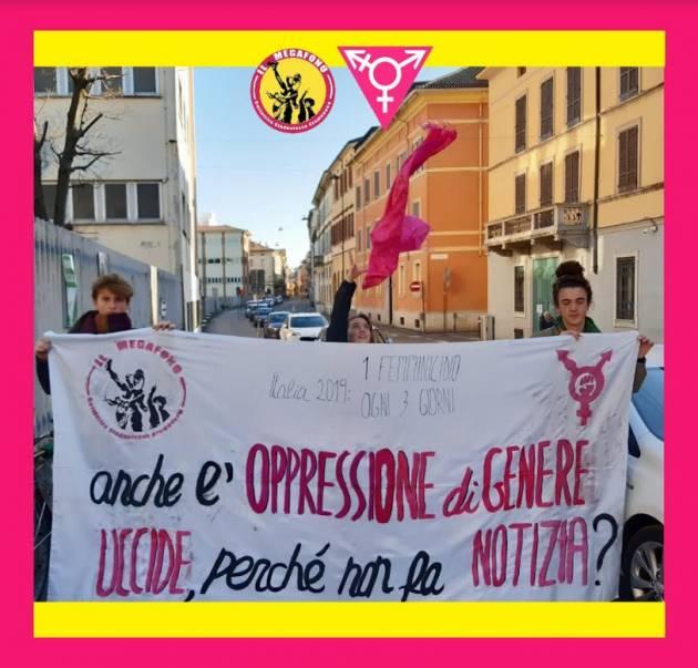 Il collettivo studentesco cremonese 'il Megafono' ha aderito sciopero transfemminista dell'8 e 9 marzo,