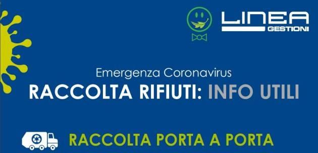 Cremona EMERGENZA CORONAVIRUS  LINEA GESTIONI: INFORMAZIONI UTILI  PER LA RACCOLTA PORTA A PORTA