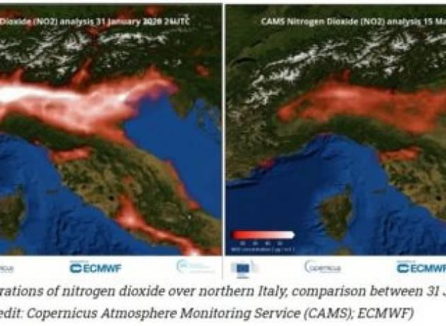 Copernicus conferma, cala l'inquinamento in Italia ''a seguito delle misure Covid-19''