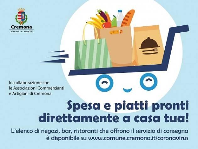 Cremona, parte l'iniziativa Spesa e piatti pronti direttamente a casa tua!