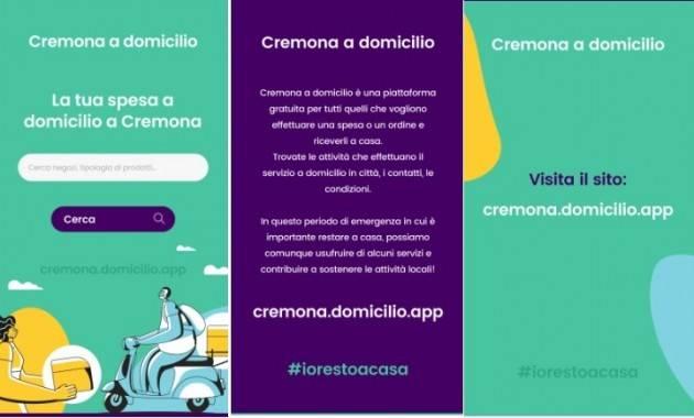 #lottacoronavirus Online Cremona a domicilio, il portale per gli ordini a casa. Progetto di una giovane cremonese e supportato da Dueper Design