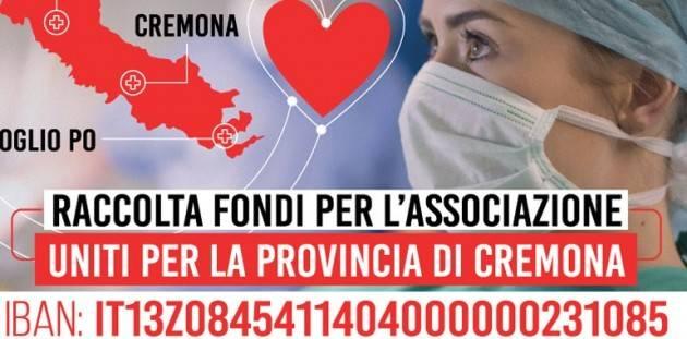 """""""Uniti per la provincia di Cremona"""" ha raccolto 1,8 milioni di euro ma non basta"""