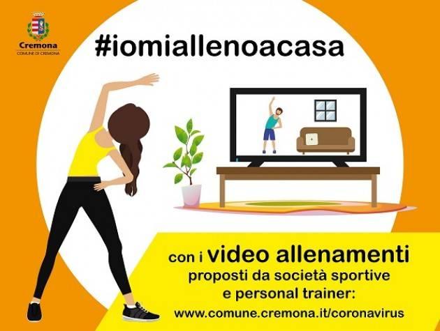 Parte l'iniziativa #iomiallenoacasa promossa dall'Assessorato allo Sport del Comune di Cremona