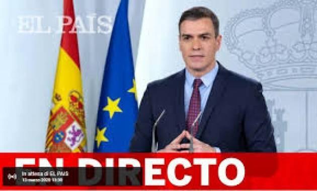 La Spagna estende lo stato di emergenza fino al 12 aprile