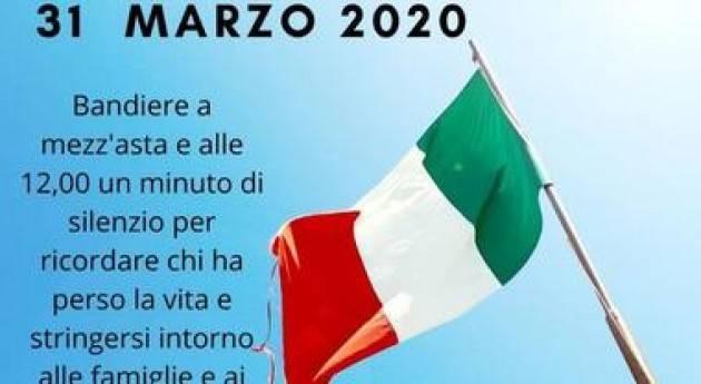 Cremona commemora le vittime dell'epidemia da COVID-19 il 31 marzo