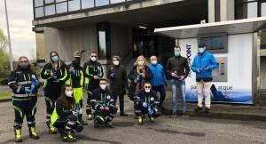Padania Acque: Attivazione ufficiale casa dell'acqua per l'ospedale da campo di Crema alla presenza delle autorità