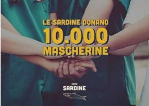 Sardine donano 10mila mascherine.