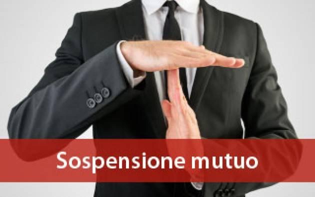 La proposta Federconsumatori: sospensione mutuo anche se stipulato da meno di un anno