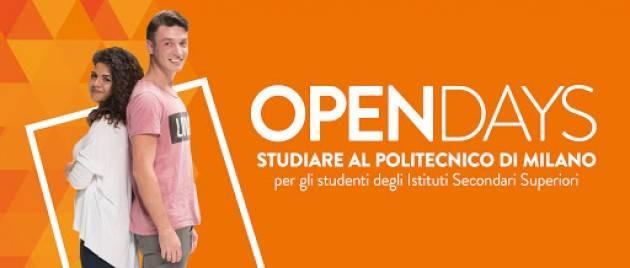 Open Day online  del Politecnico di Milano Sabato 2 maggio sessione live con il Polo di Cremona