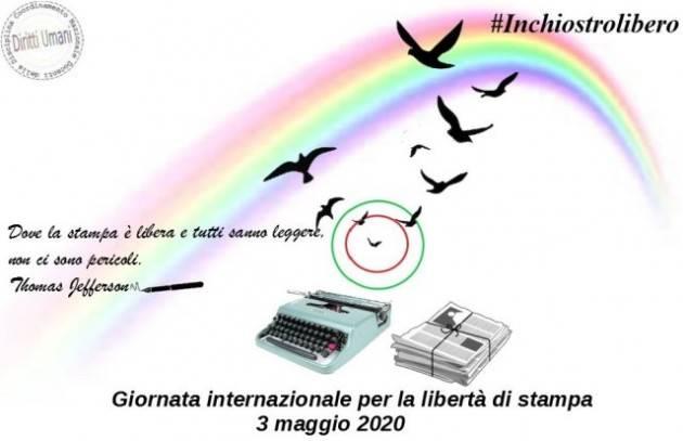 CNDDU  Il 3 maggio Giornata Mondiale della Libertà di Stampa