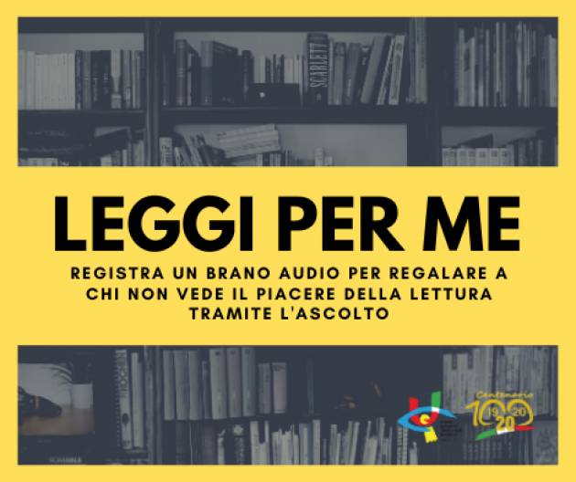 Comune e Unione Ciechi di Cremona promuovono insieme la campagna nazionale #LeggiPerMe
