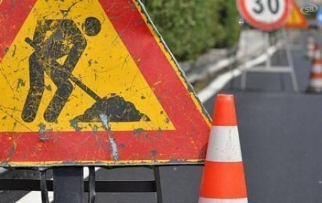 Da domani riparazione delle rete fognaria in via Aniense: modifiche alla viabilità
