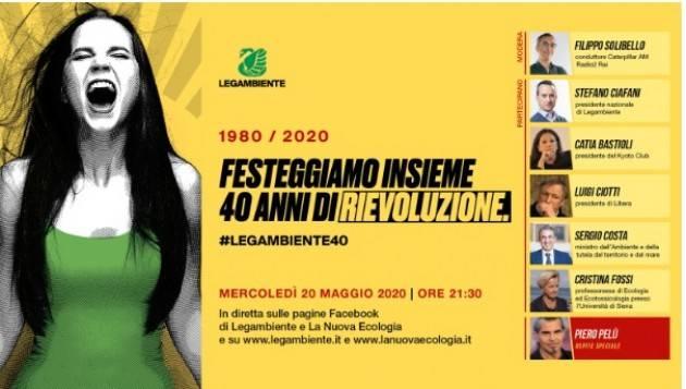 Il 20 Maggio Legambiente compirà 40 anni.