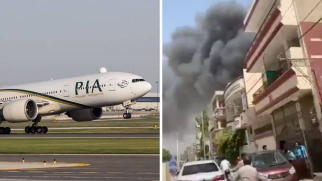Pakistan, aereo si schianta tra le abitazioni a Karachi