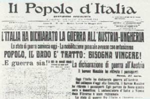 IERI: 24 maggio 1915 – L'Italia entra nella Grande Guerra