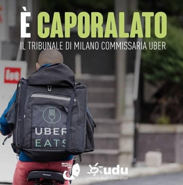 Uber Italy è stata commissariata per caporalato sui rider.  Rete studenti UDU
