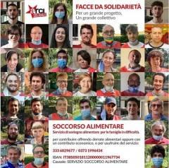 Crema Arci Solidale , soccorso alimentare , facce da solidarietà