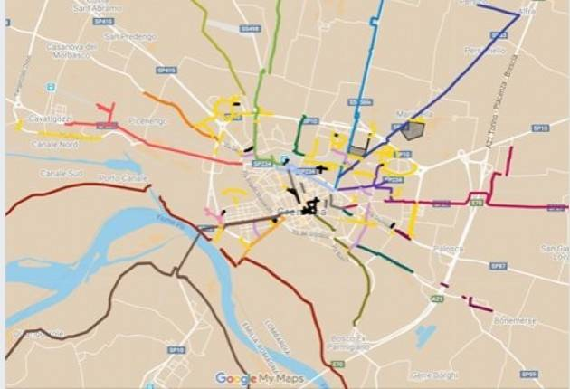 Finalmente pubblicata mappa interattiva delle ciclabili di Cremona  |Filippo Bonali (Cremona)