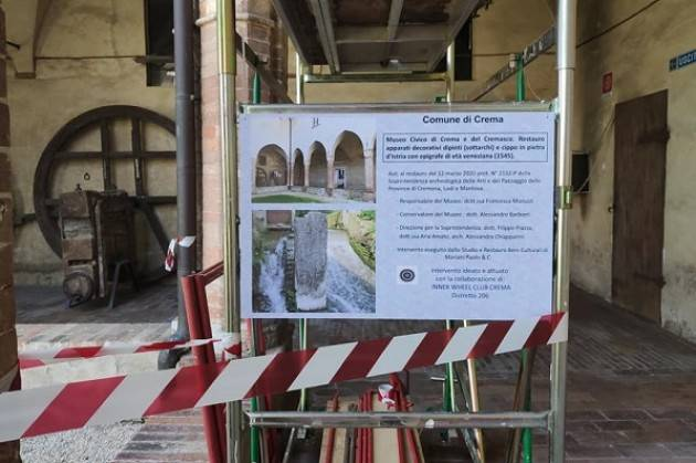 Crema Al via i lavori di restauro sostenuti dall'Inner Weel nei chiostri ex Convento Sant'Agostino