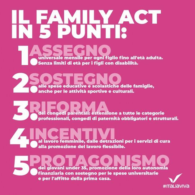 Cdm approva Family act