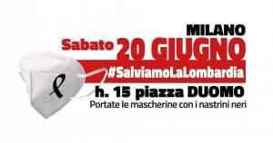 Acli.Milano, Piazza Duomo;20 giugno 2020 #Salviamo la Lombardia