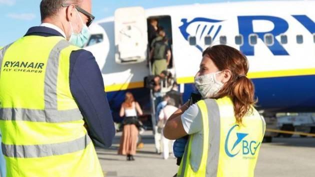 Ripresi voli Ryanair da Orio al Serio