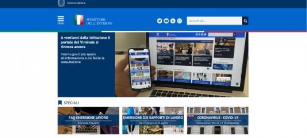 Online il nuovo portale del ministero dell'Interno