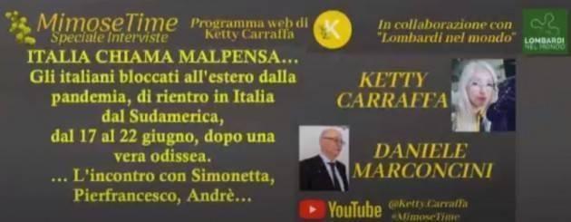 LNM MIMOSETIME & LOMBARDINELMONDO. Ketty Carraffa e Daniele Marconcini, incontro con ROBERTO SERRA (Video)