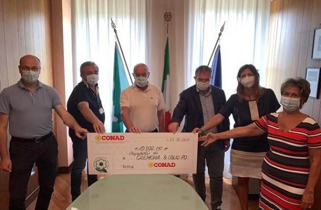 DONAZIONE CONAD  di 15 mila euro a ASST CREMONA