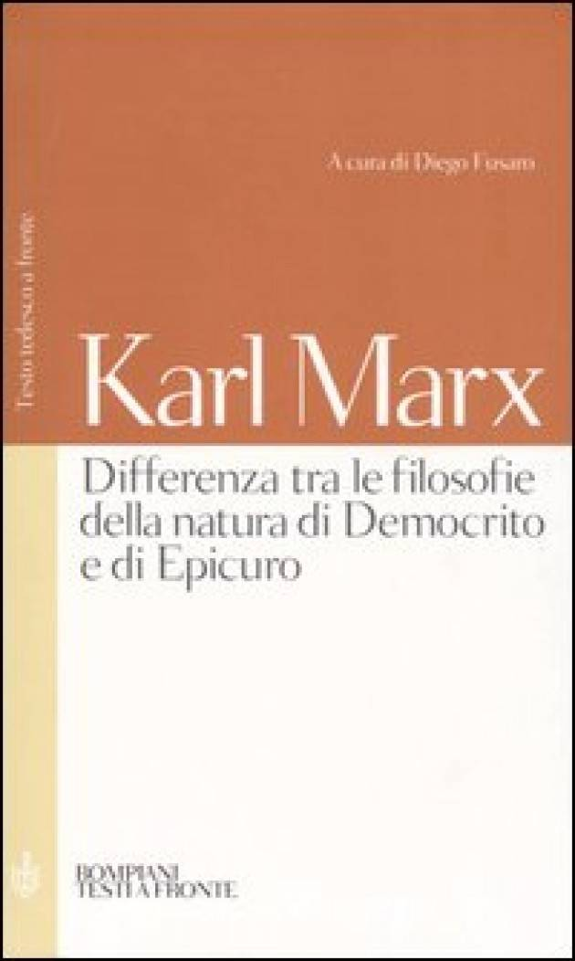Il giovane Karl Marx ed Epicuro Lucio Garofalo
