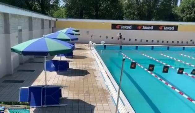 Cremona GianLuca Galimberti  riaperta la piscina comunale  scoperta