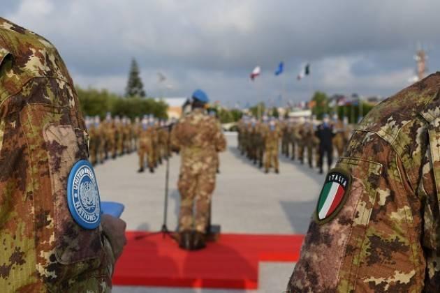 UNIFIL Medal Parade al Sector West I caschi blu italiani ricevono la United Nations Medal