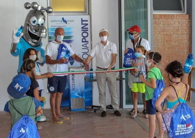 Cremona, Padania Acque.: inaugurata la fontanella AcquaPoint presso la Associazione Canottieri Flora