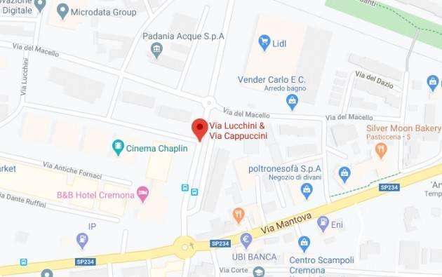 Cremona LAVORI STRADALI TELERISCALDAMENTO VIA LUCCHINI E VIA CAPPUCCINI DAL 13/ AL 9/10  2020