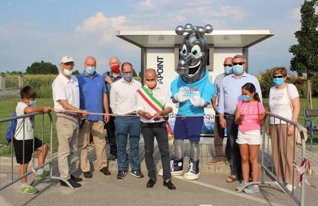 Cicognolo, Padania Acque: inaugurata la casa dell'acqua 'Fonte Salute'