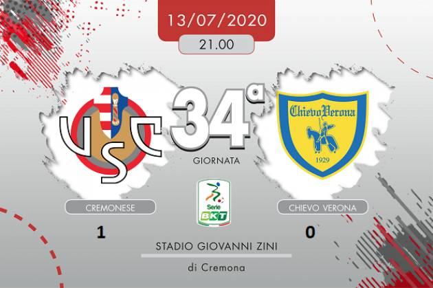 La Cremonese  batte il Chievo 1-0 | Giorgio Barbieri (Cremona)