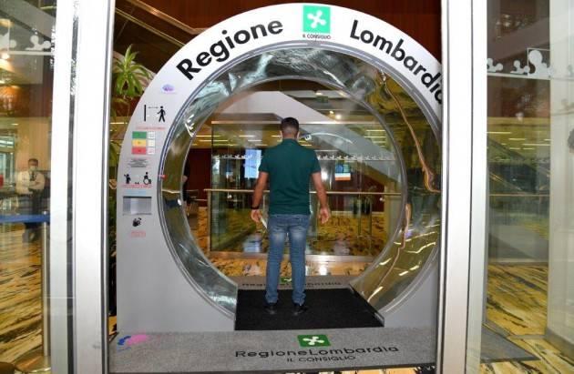 Lnews Milano Dal 15/7 a Palazzo Pirelli un avveniristico e innovativo 'tunnel sanificatore' accoglie all'ingresso i visitatori